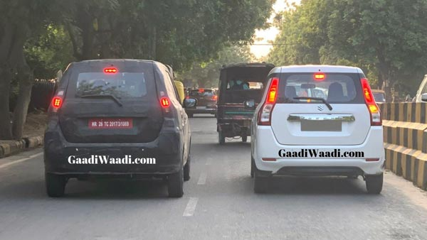 Maruti Suzuki WagonR-Based XL5 Premium Hatchback Spotted Testing