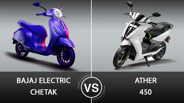 Bajaj Electric Chetak Vs Ather 450 Differences: Specs, Features, Design & Other Details