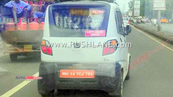 Spy Pics: Bajaj Qute Electric Spotted Testing Ahead Of Debut At 2020 Auto Expo