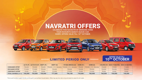Maruti Suzuki Discounts & Festive Season Benefits On Offer For Select Models