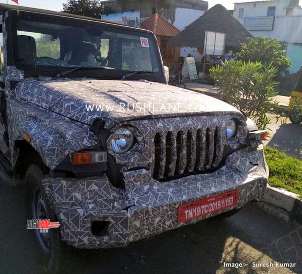 New Mahindra Thar (2020) Spied Testing Again Ahead Of Launch: Spy Pics & Details