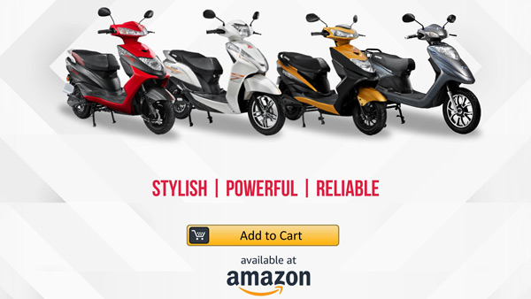 Ampere Electric Scooter Now Available Online Through Amazon In Selected Cities