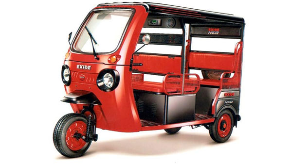 Exide Neo Electric Rickshaw Unveiled In India: Will Feature Rear-View Camera