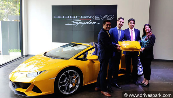 Lamborghini Huracan Evo Spyder Launched In India: Priced At Rs 4.1 Crore