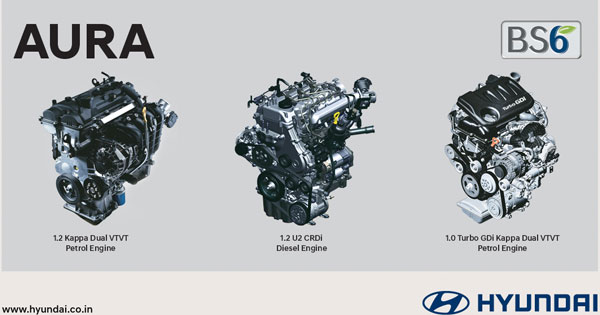Hyundai Aura Engine Specifications Revealed: India Launch Expected Soon