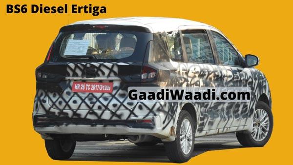Maruti Suzuki Ertiga BS-VI Diesel Spied Testing Ahead Debut At 2020 Auto Expo: Spy Pics & Details