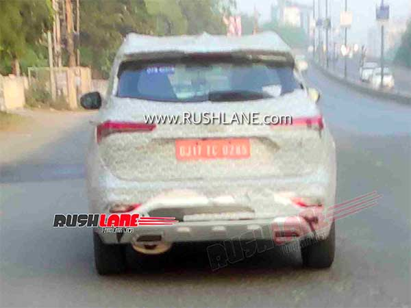 Spy Pics: MG Hector Seven-Seater BS6 Model Spotted Testing Ahead Of India Launch