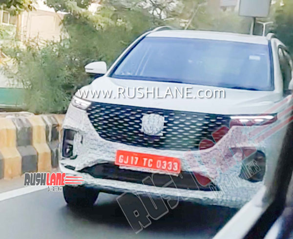 Spy Pics: 2020 MG Hector Spied Testing With An Updated Styling & As A 6-Seater Configuration