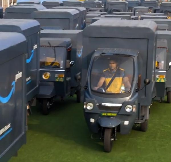 Amazon Introduces Three And Four Wheeler EVs For Product Delivery