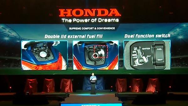 Honda Activa 6G Features — External Fuel Filler Cap