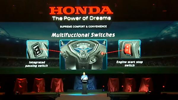 Honda Activa 6G Features — Multi-function Switches