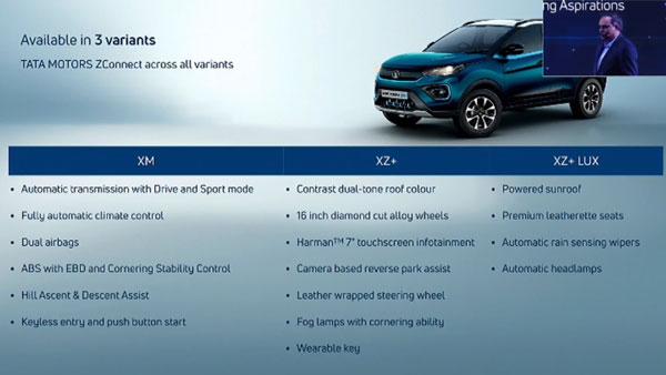 Tata Nexon EV Variants & Features