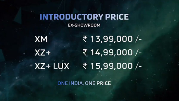 Tata Nexon EV Price List