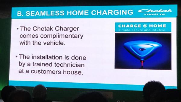Bajaj Chetak Electric Scooter Charging