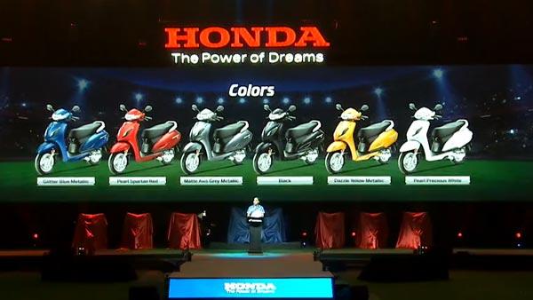 Honda Activa 6G Colour Options