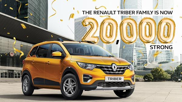 Renault Triber Sales In India: Registers A New Milestone With 20,000 Units Of Sales Since Launch