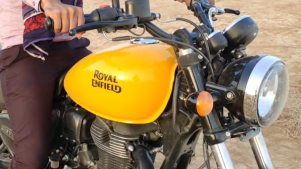 Spy Pics: Royal Enfield Meteor 350 Spied With Yellow Tank, Twin Pod Instrument Cluster, & More