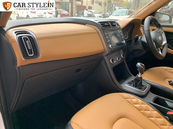 Hyundai Creta BS6 Model Interiors Modified By Delhi Based Car Stylein