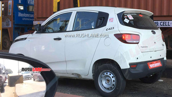 Spy Pics: Mahindra KUV100 CNG BS6 Variant Spied Testing Ahead Of Launch