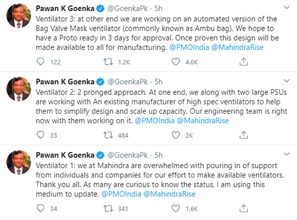 Mahindra Produces Ventilator Prototypes Within 48 Hours To Support Covid-19 Containment In India