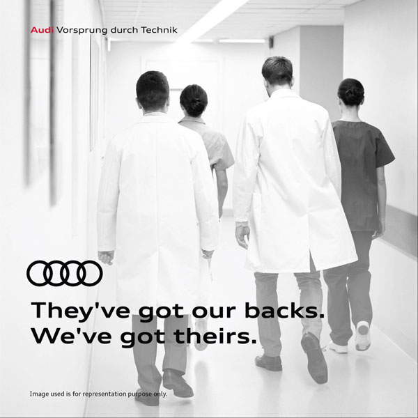 Audi India Salutes COVID-19 Frontline Warriors: Disinfects And Cleans Their Cars