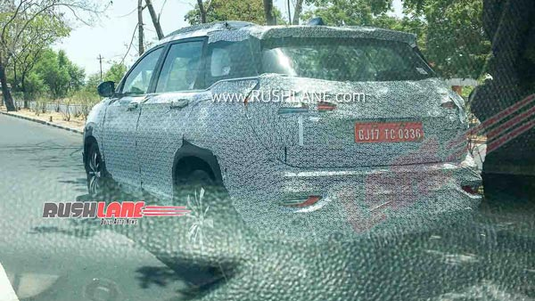 MG Hector Plus Spotted Testing Ahead Of Launch: Spy Pics & Other Details