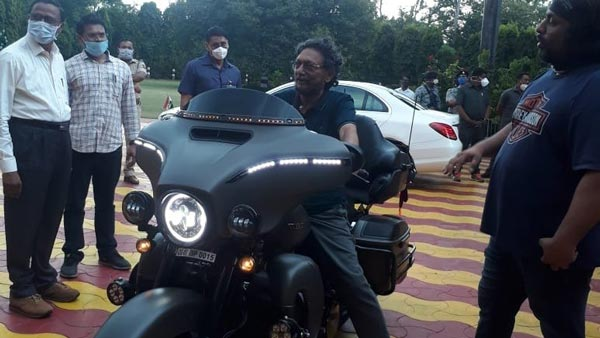 Chief Justice of India Sharad Bobde Photographed On Harley-Davidson Limited Edition CVO