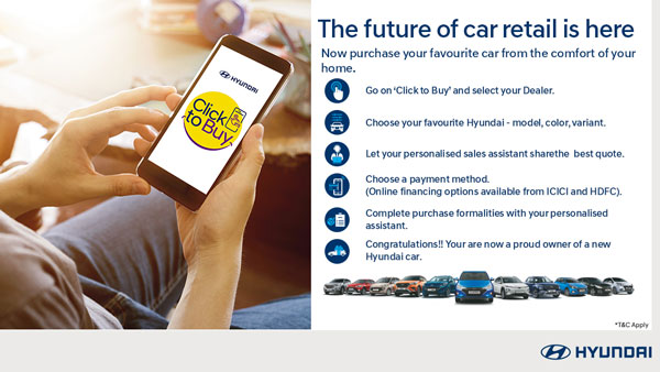 Hyundai, ICICI Partners To Offer Hassle-Free Finance On Click To Buy Online Sales Platform