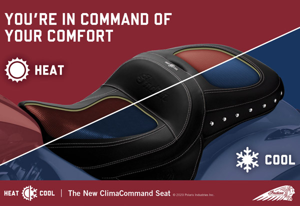 Indian Motorcycle Launches Climate Controlled Seats For Chief, Chieftain, and Roadmaster Models