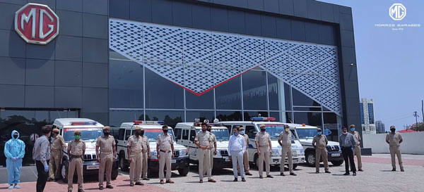 MG Motor India Sanitises Over 3000 Police Vehicles In 29 Days Due To Covid-19 Pandemic