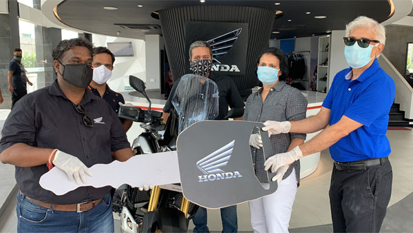 2020 Honda Africa Twin Deliveries Commence: First Motorcycle Delivered To Customer In Gurugram