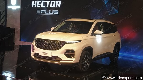 MG Hector Plus Spied Testing In India Ahead Of India Launch Soon: Spy Pics & Details