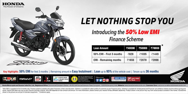 Honda Introduces A New Finance Scheme For Its Customers: Only For A Limited Time Period
