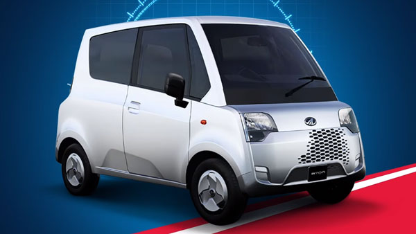 Mahindra Atom Electric Quadricycle Teased Ahead Of India Launch Next Year