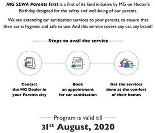 MG Motors Launches Sewa Parents First Initiative: Read More To Find Out