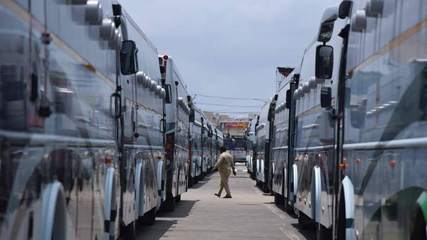 Andhra Pradesh Government Deploys 52 New Modified Busses For COVID-19 Testing
