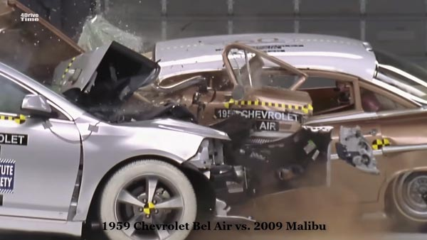 Crash Test Video Shows How Safety Has Improved Between Old And New Cars