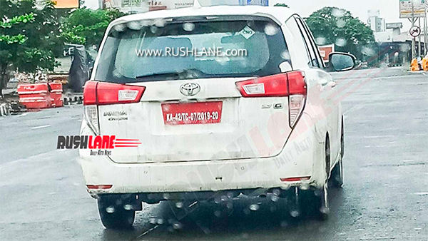 Spy Pics: Toyota Innova Crysta CNG Spotted Testing Ahead Of Possible India Launch Later This Year