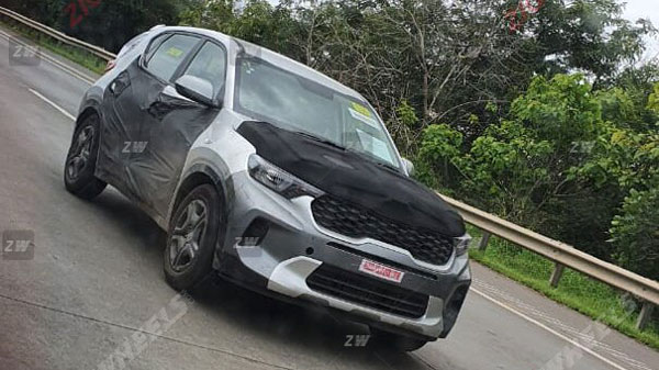 Spy Pics: Kia Sonet Production-Ready SUV Design Revealed While Undergoing Testing Ahead Of World Premiere