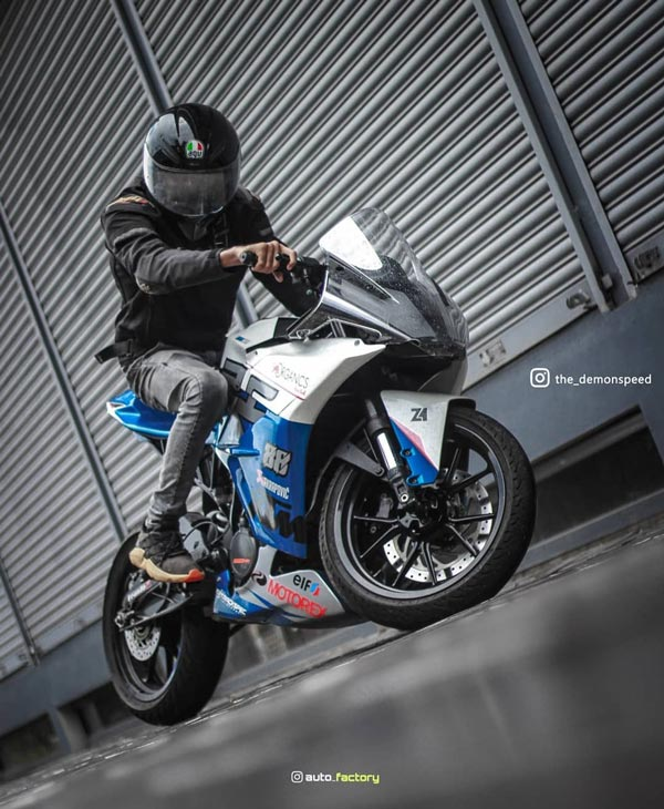 KTM RC 200 Modified With Parts From Autologue Design: Wrapped By Zed One