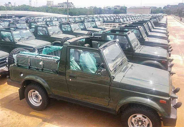 Maruti Suzuki Delivers Over 700 Gypsy To The Indian Army