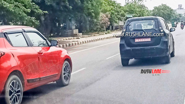 Maruti WagonR Electric Hatchback Spied Testing Once Again In India