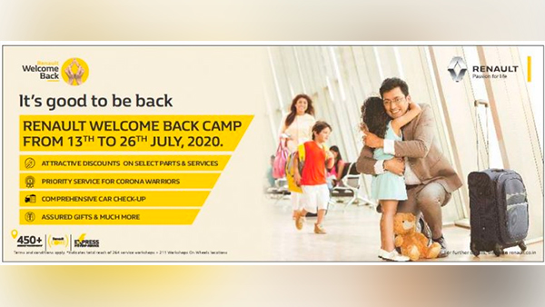 Renault India Has Launched A Welcome Back Service Camp For Its Customers