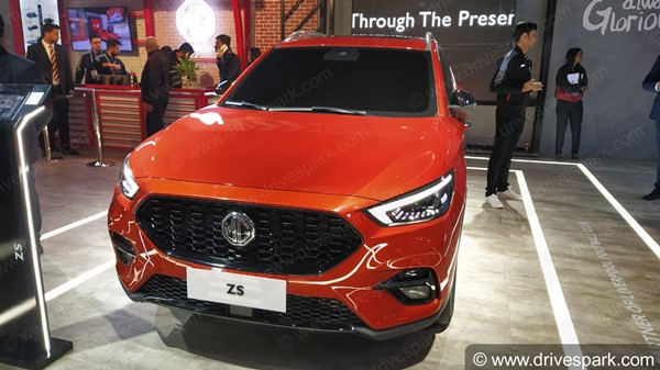 Spy Pics: MG ZS Petrol SUV Spotted Testing Ahead Of Launch In India