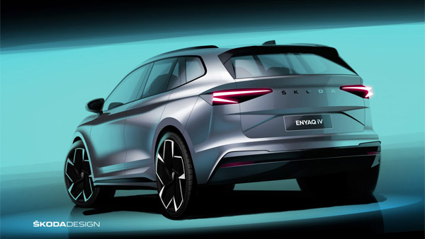 Skoda Enyaq iV Electric SUV Design Sketches Officially Revealed: Here Are The Details!