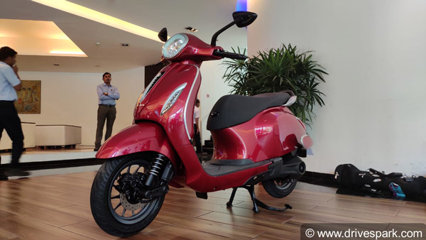 Bajaj Chetak Electric Scooter Sales In July 2020: Registers 120 Units Of Sales To Overtake TVS iQube Electric