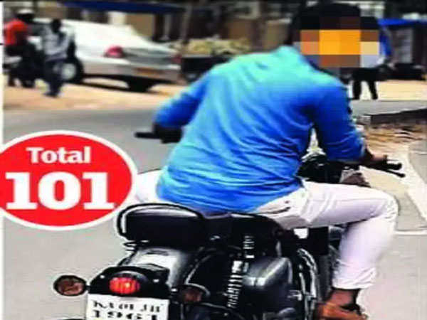 Biker Fined Rs 57,200 For 101 Traffic Violations