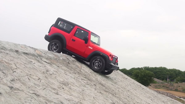 New Mahindra Thar Off-Road Capabilities Showcased: Video, Performance & Other Details