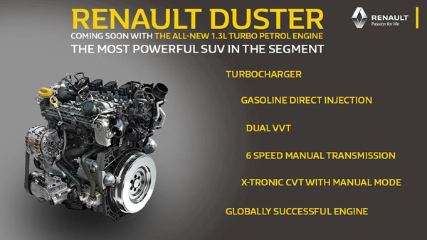 Renault Duster Turbo-Petrol Engine Teased Ahead Of Launch: Here Are All Details