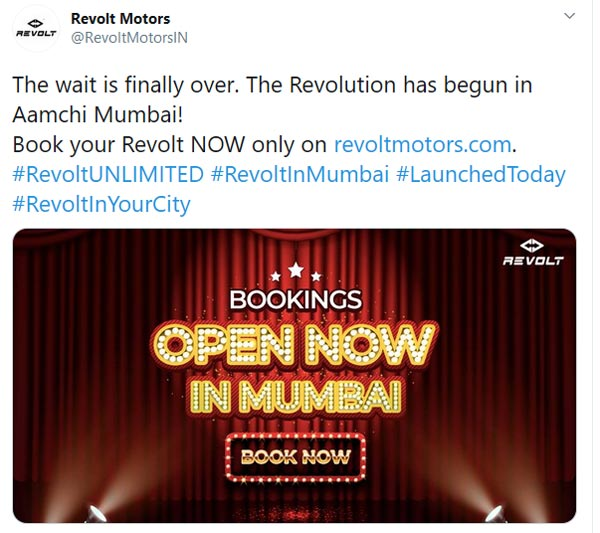 Revolt RV400 & RV300 Bookings Open In Mumbai: Price, Subscription & Other Details